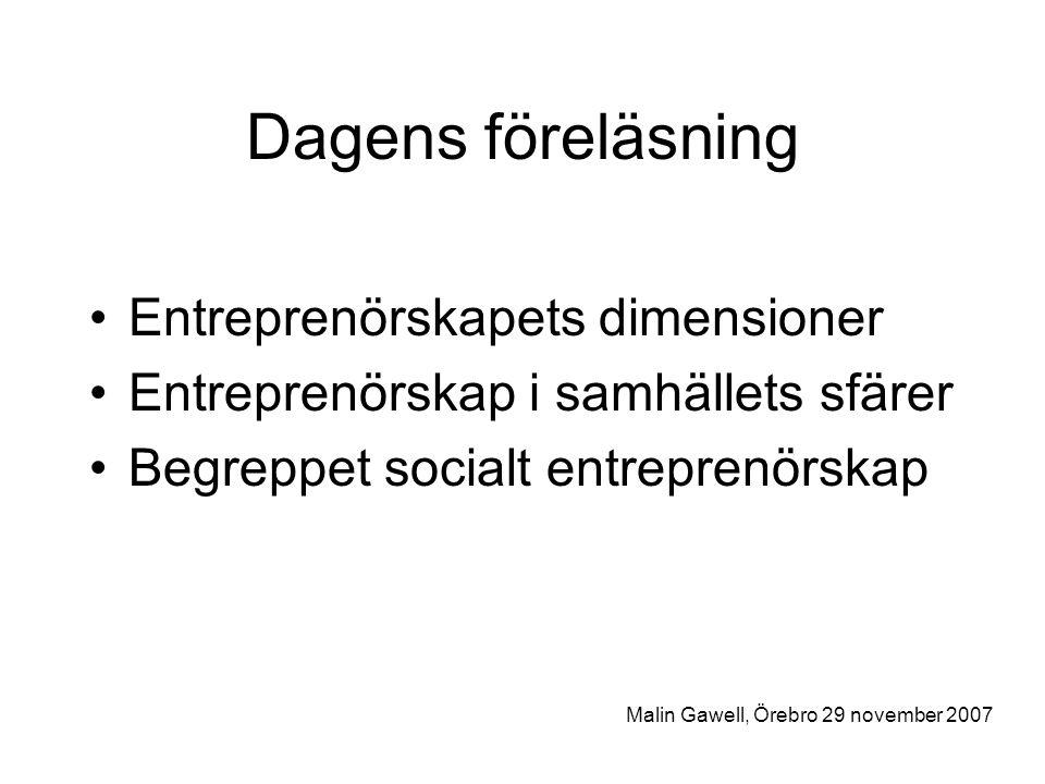 Activist Entrepreneurship Attac'ing Norms and Articulating Disclosive Stories Malin Gawell, Örebro 29 november 2007