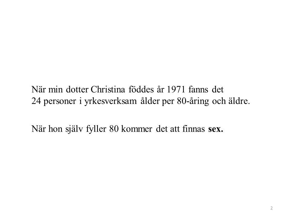 Utmaningen åldersstruktur i Sverige 1913 - 2050 3 Livslängd 57 61 72 76 81 84 88