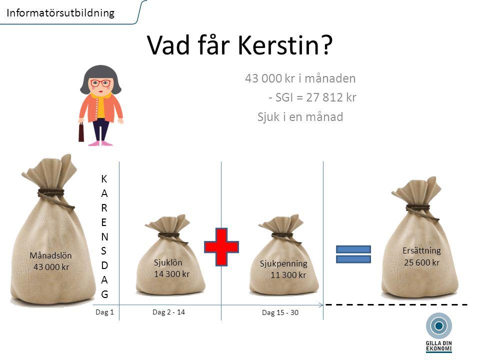 FLIKTEXT I VERSALER Informatörsutbildning Vad får Kerstin.