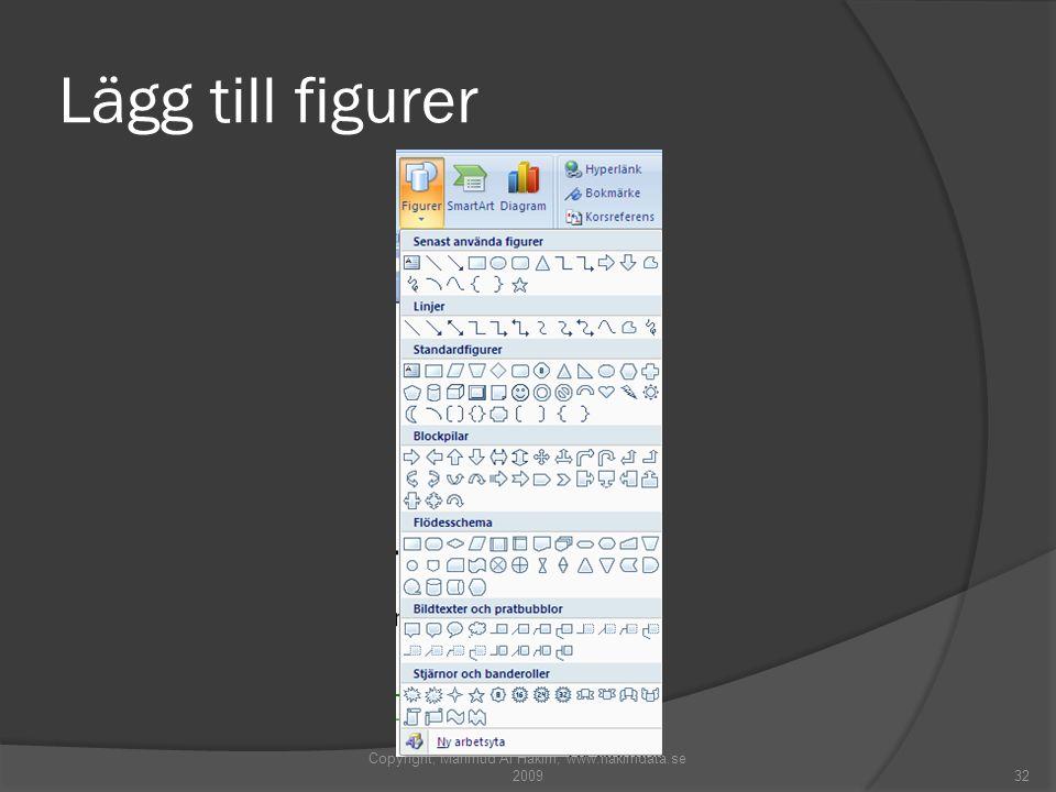 Lägg till figurer Copyright, Mahmud Al Hakim, www.hakimdata.se 200932