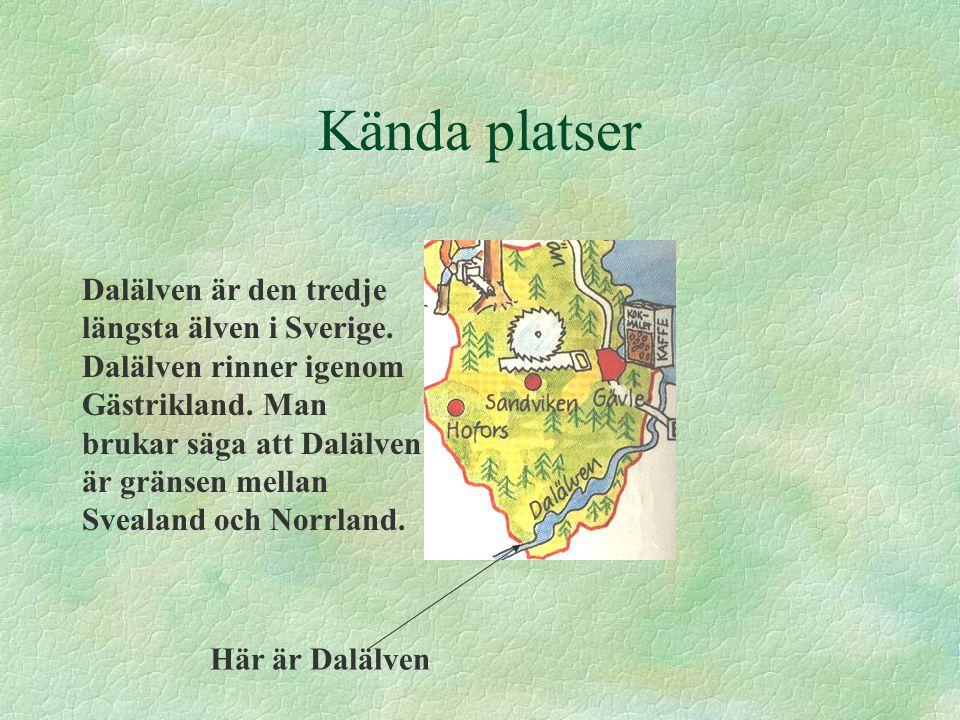 Näringar Eftersom det finns mycket skog finns det sågverk och massafabriker i Gästrikland.