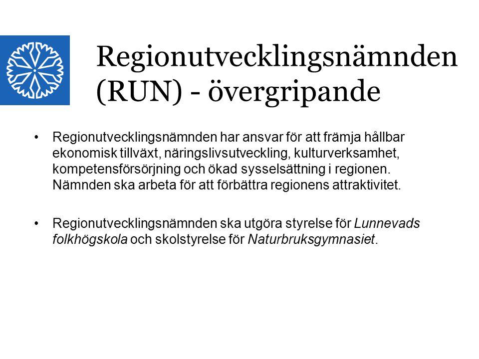 Landstinget i Östergötland Regionutvecklingsnämnden har ansvar för att främja hållbar ekonomisk tillväxt, näringslivsutveckling, kulturverksamhet, kompetensförsörjning och ökad sysselsättning i regionen.