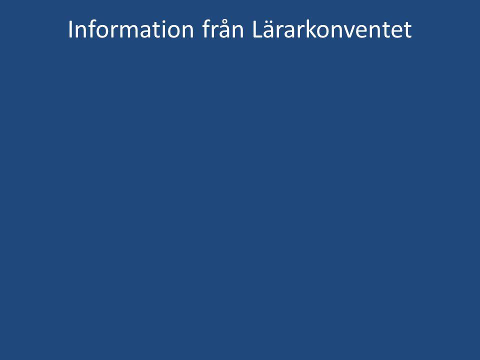 Information från Lärarkonventet