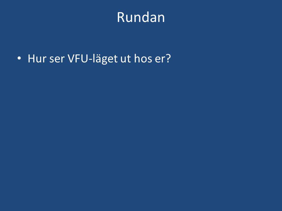 Rundan Hur ser VFU-läget ut hos er?