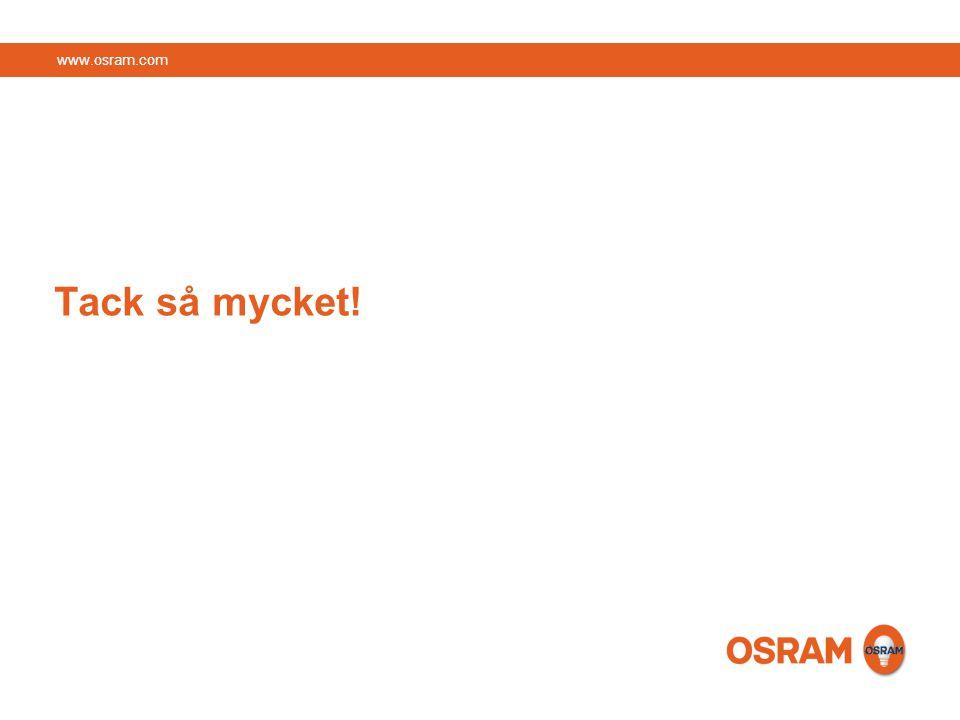 www.osram.com Tack så mycket!