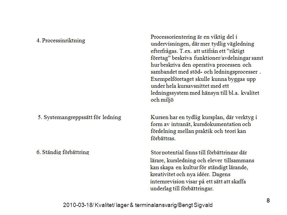 88 2010-03-18/ Kvalitet/ lager & terminalansvarig/Bengt Sigvald