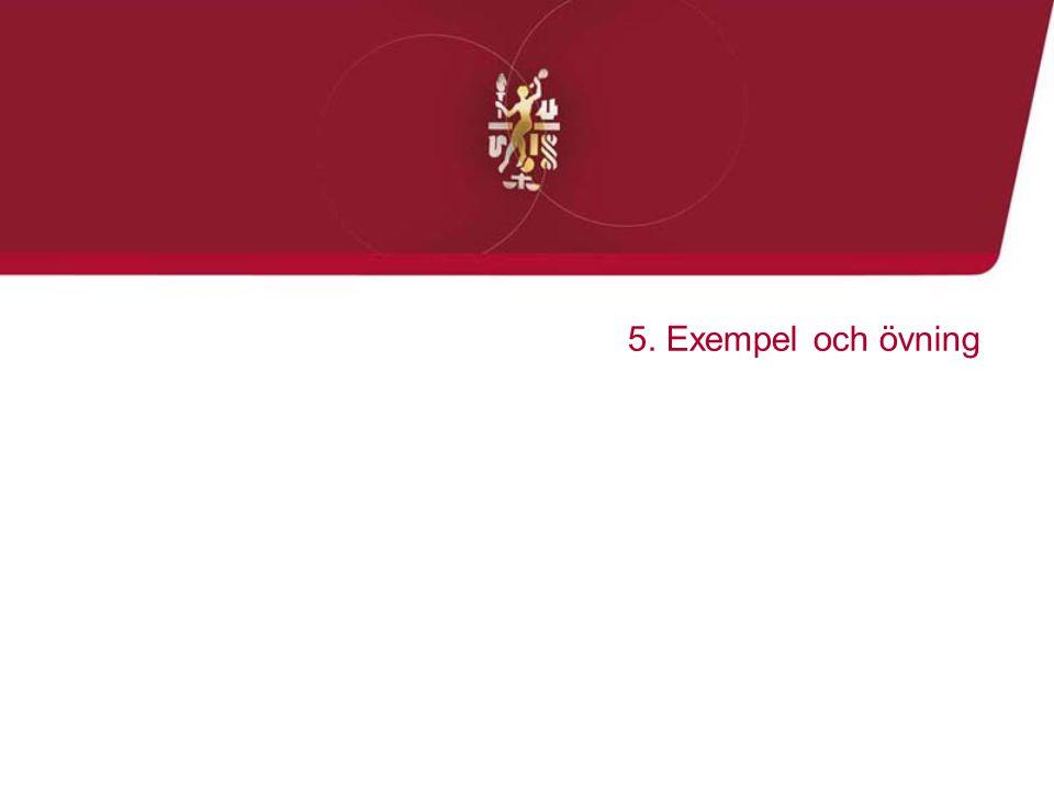 5. Exempel och övning