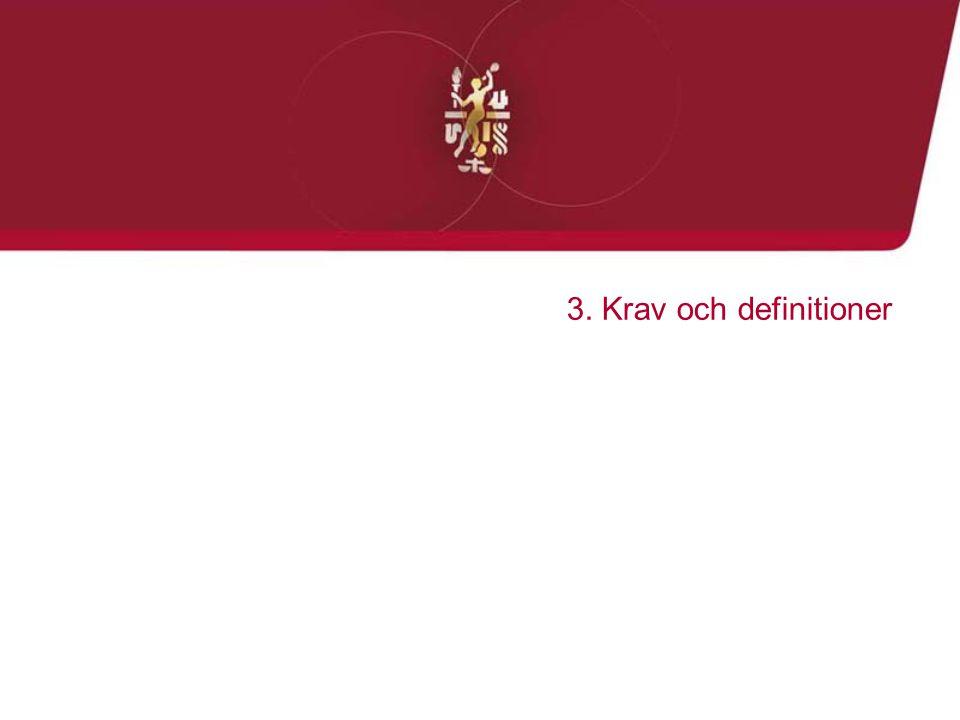 3. Krav och definitioner