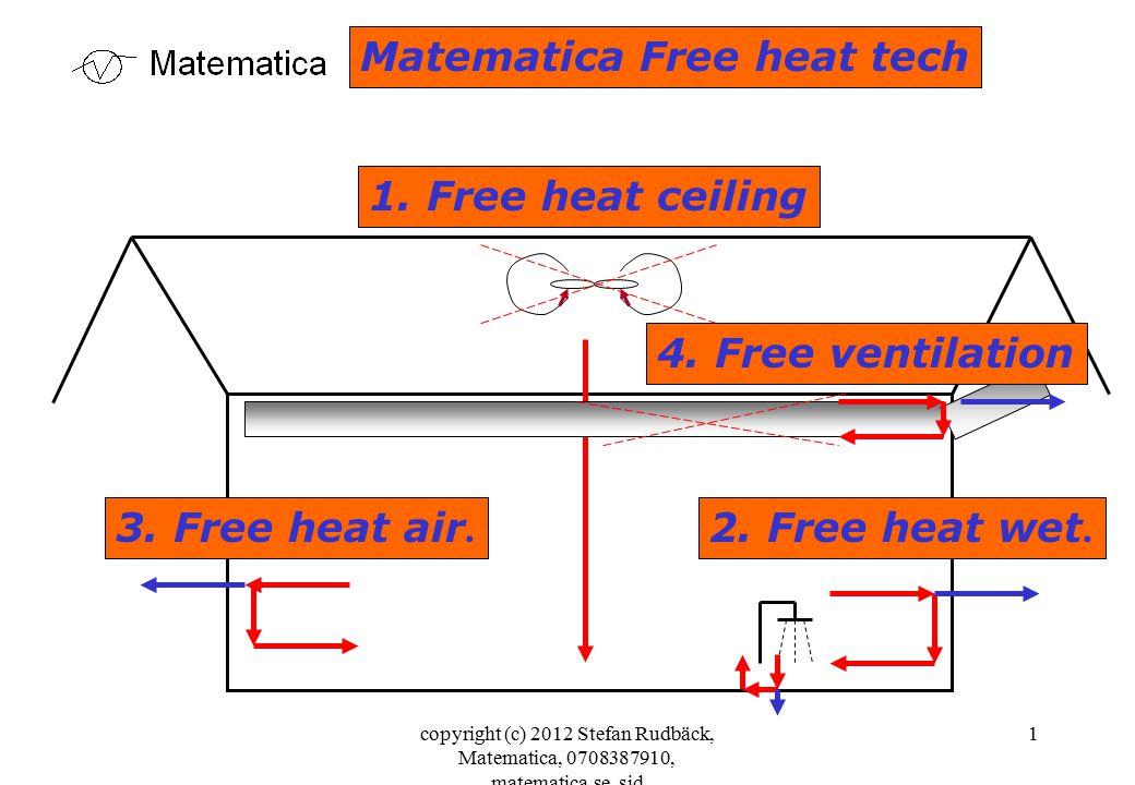 copyright (c) 2012 Stefan Rudbäck, Matematica, 0708387910, matematica.se, sid 1 Matematica Free heat tech 1. Free heat ceiling 2. Free heat wet. 3. Fr