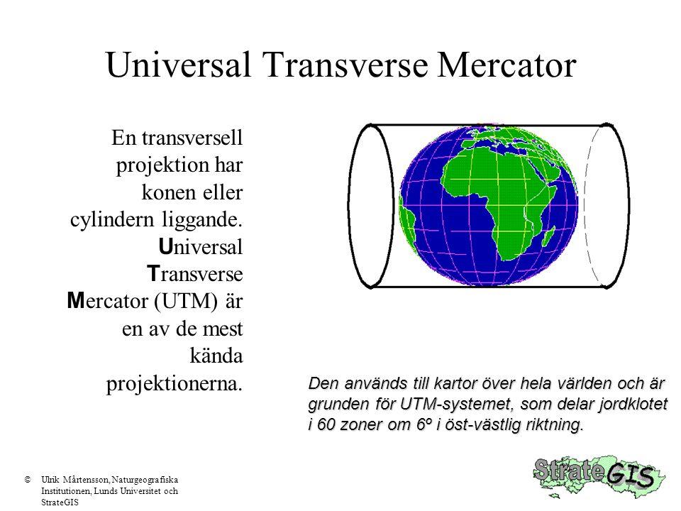 Cylindrisk projektion Denna är den vanligaste för de flesta kartor.