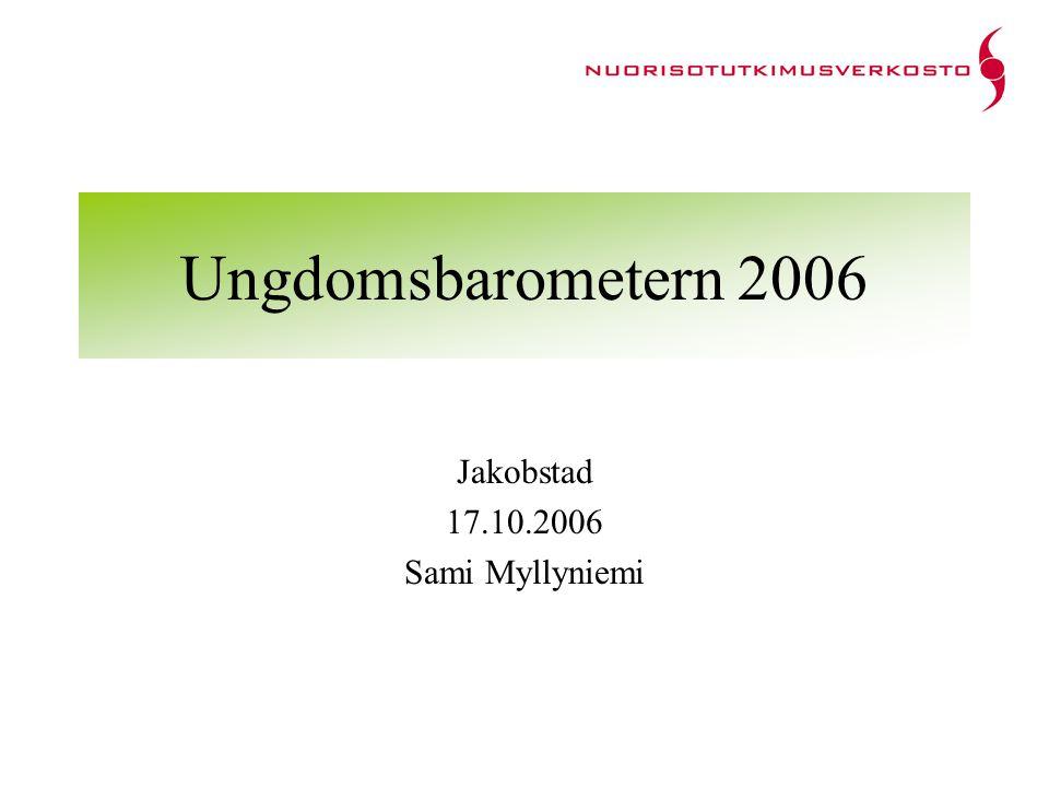 Ungdomsbarometern 2006 Jakobstad 17.10.2006 Sami Myllyniemi