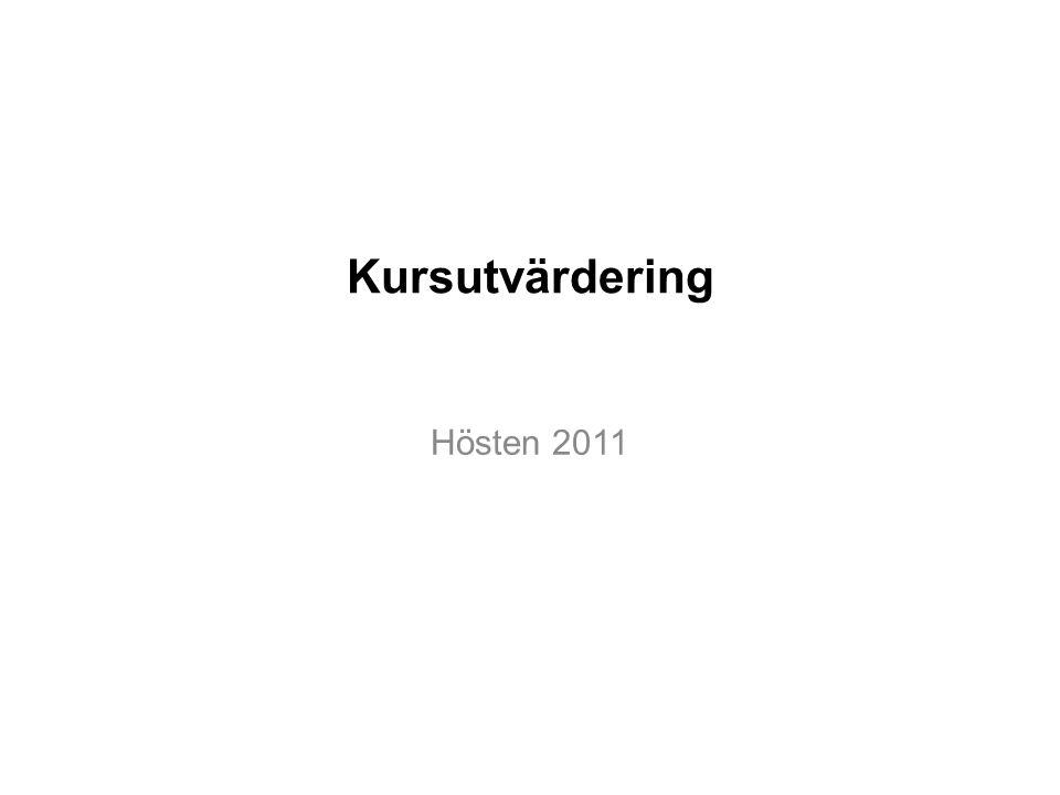 Kursutvärdering Hösten 2011