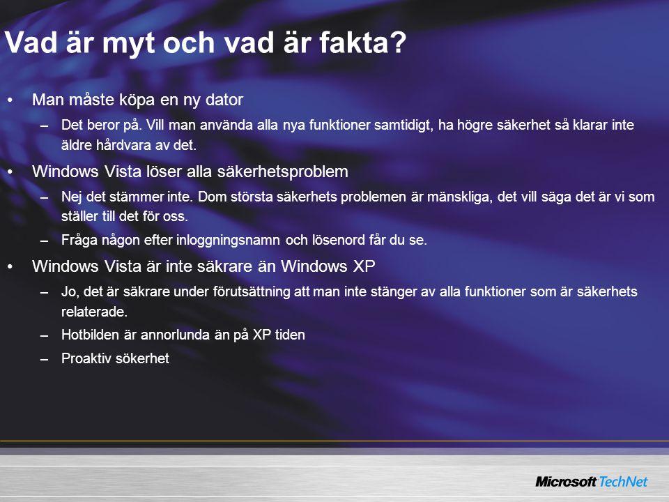 Vad är myt och vad är fakta.–Windows Vista är bara ögon godis.