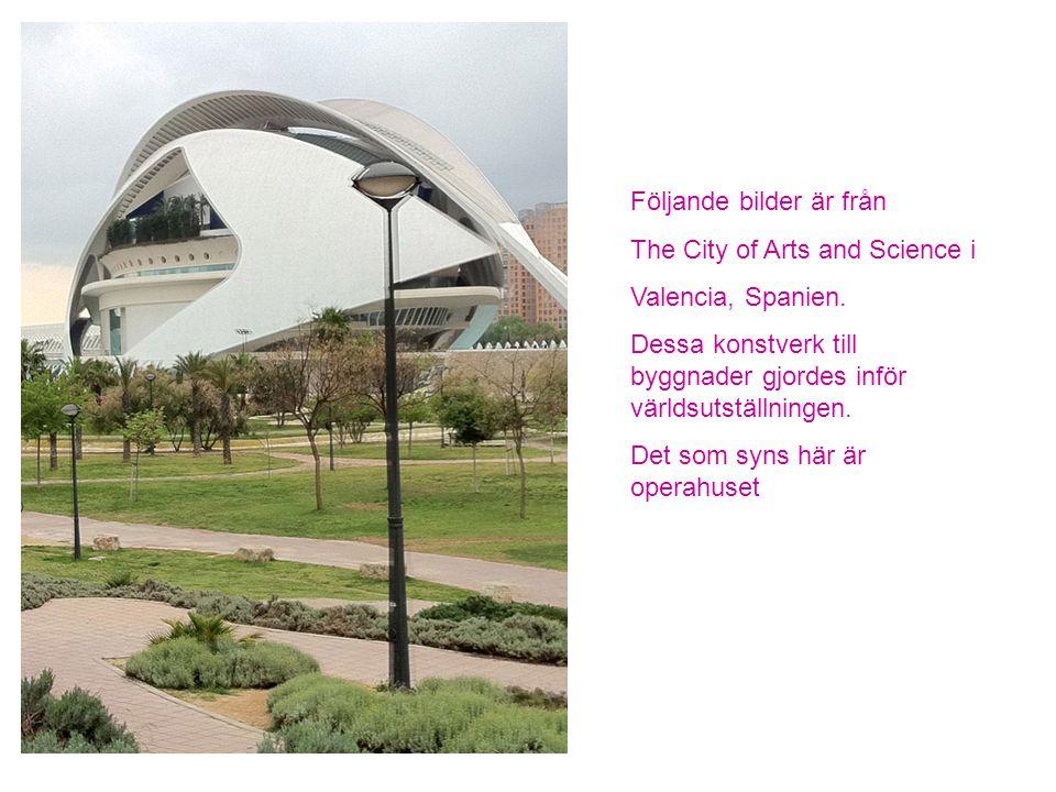 Följande bilder är från The City of Arts and Science i Valencia, Spanien.