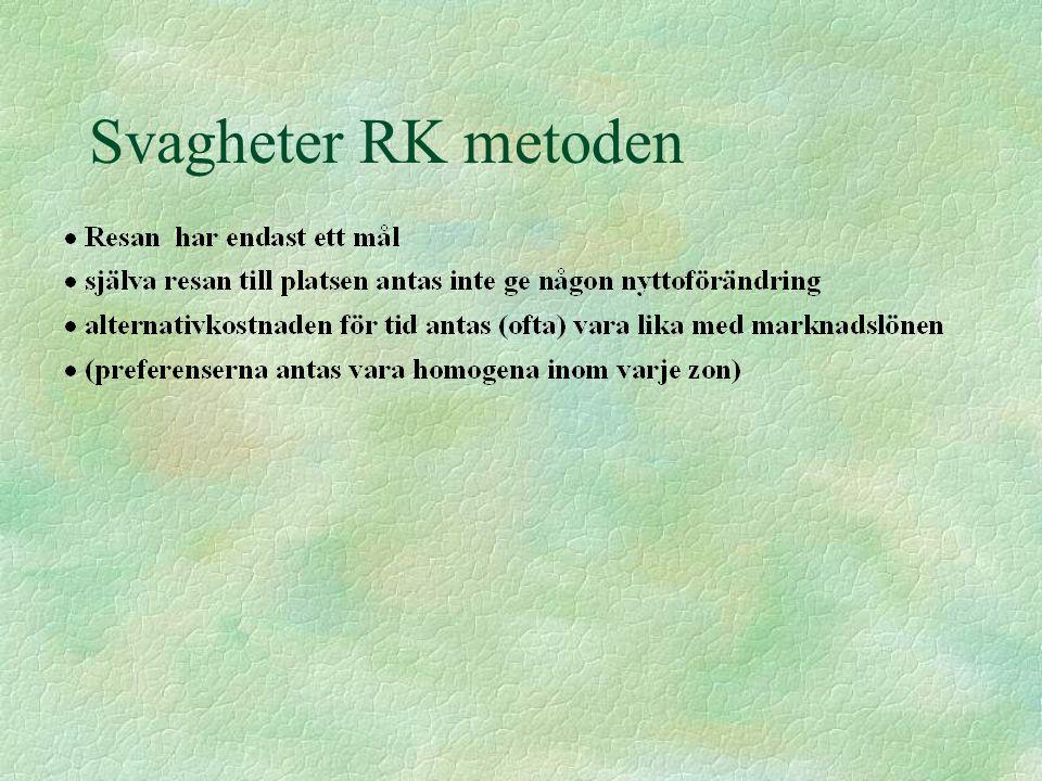 Svagheter RK metoden