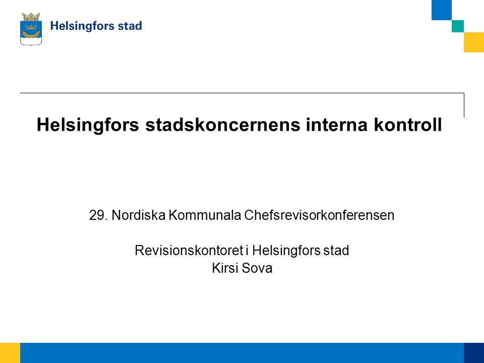 Helsingfors stadskoncernens interna kontroll 29.