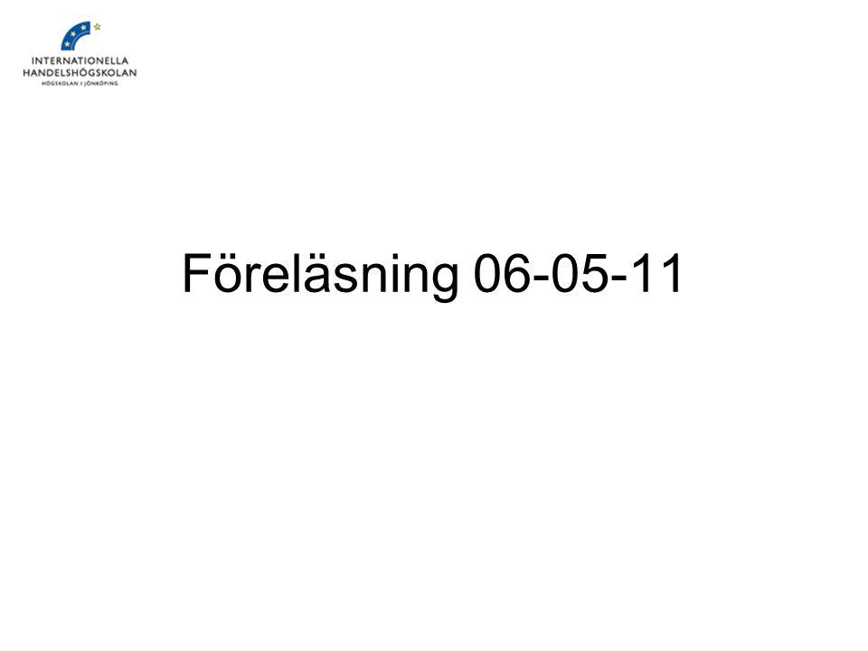 Föreläsning 06-05-11