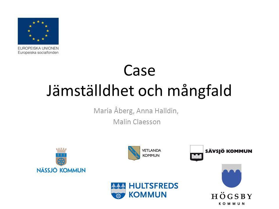 Metod Vi har använt oss av Nässjö, Sävsjö, Vetlanda, Hultsfred och Högsbys jämställdhets- och mångfaldsplaner i vårt arbete med att jämföra ovanstående kommuners mål och aktiviteter.