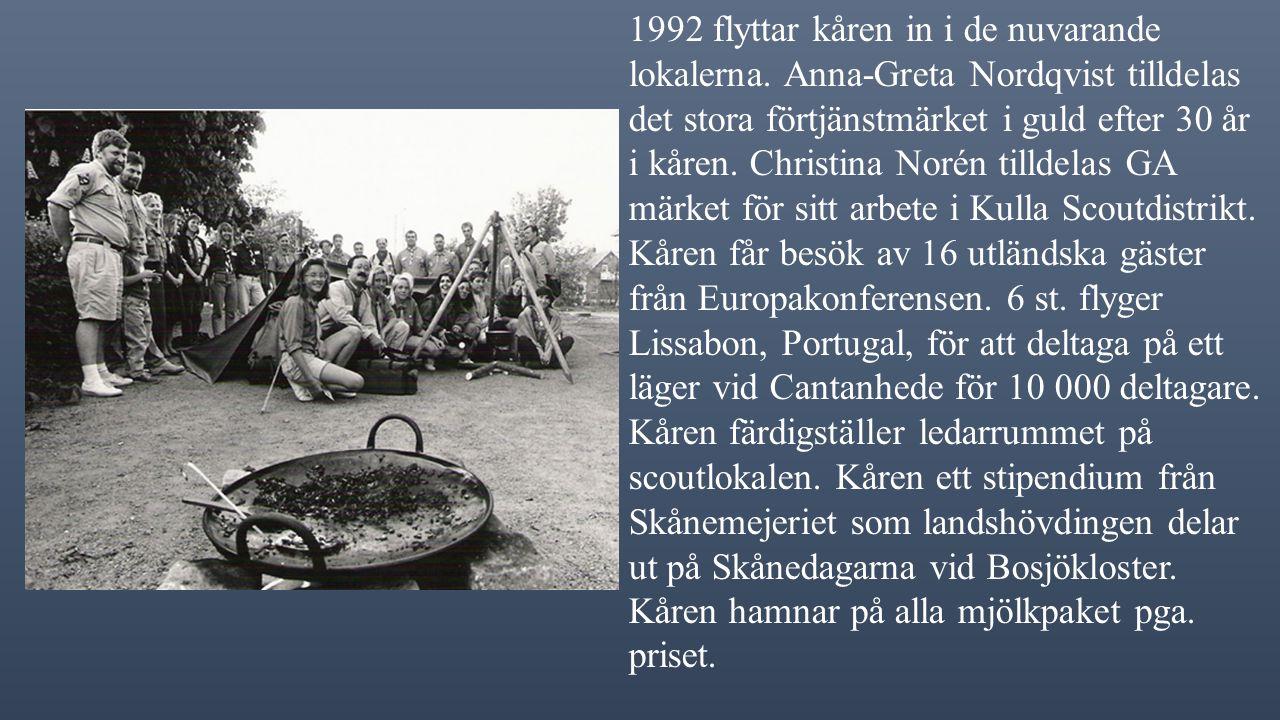 1991 planeringshelg tillsammans med Munka Ljungby scoutkår på Lalandia, Danmark.