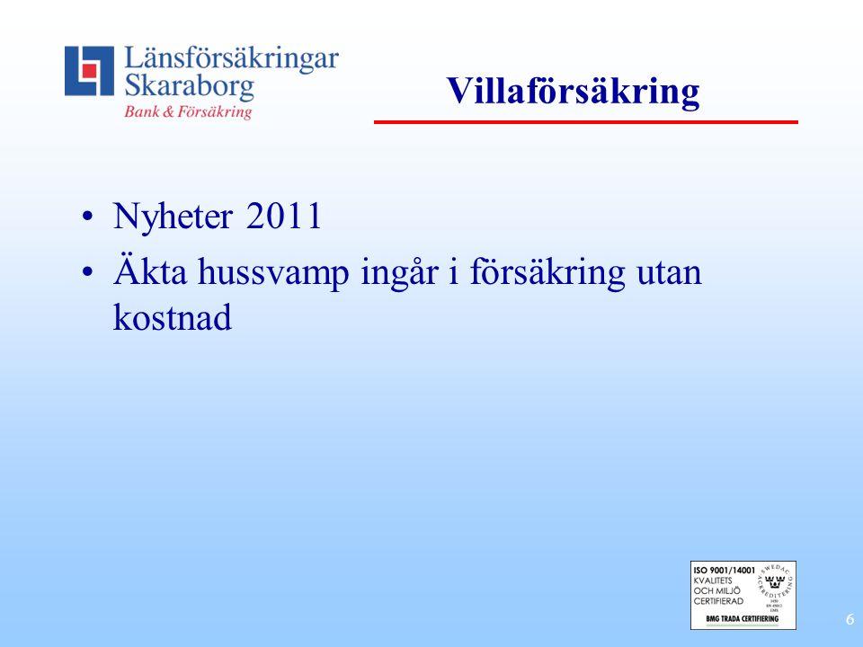 6 Villaförsäkring Nyheter 2011 Äkta hussvamp ingår i försäkring utan kostnad