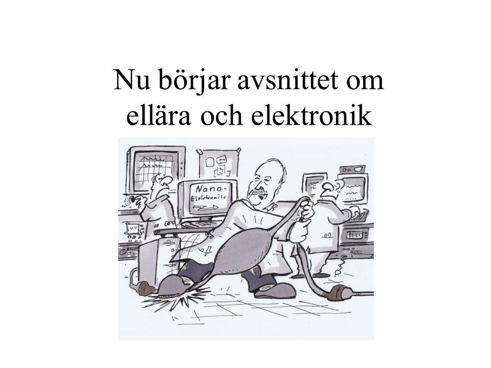 Nu börjar avsnittet om ellära och elektronik