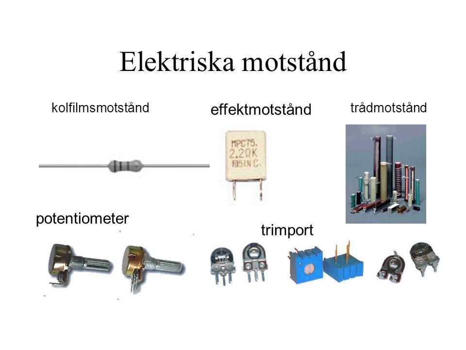 Elektriska motstånd potentiometer effektmotstånd trimport kolfilmsmotståndtrådmotstånd