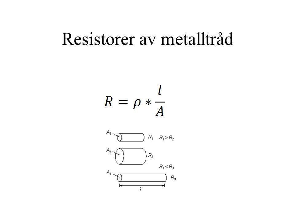 Resistorer av metalltråd