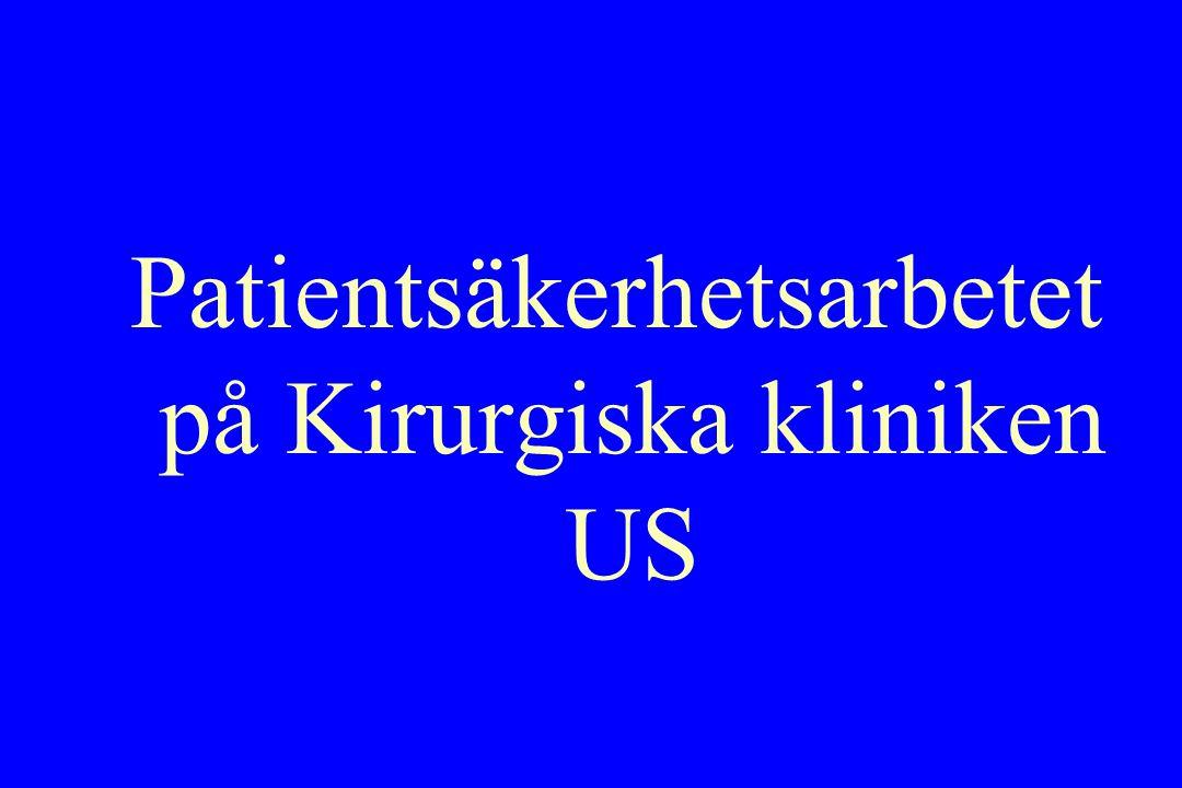 Patientsäkerhetsarbetet på Kirurgiska kliniken US