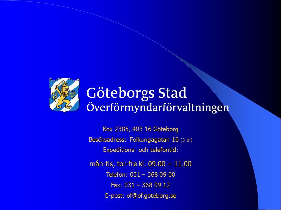 Box 2385, 403 16 Göteborg Besöksadress: Folkungagatan 16 (3 tr.) Expeditions- och telefontid: mån-tis, tor-fre kl.