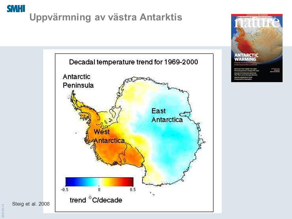 Uppvärmning av västra Antarktis Steig et al. 2008