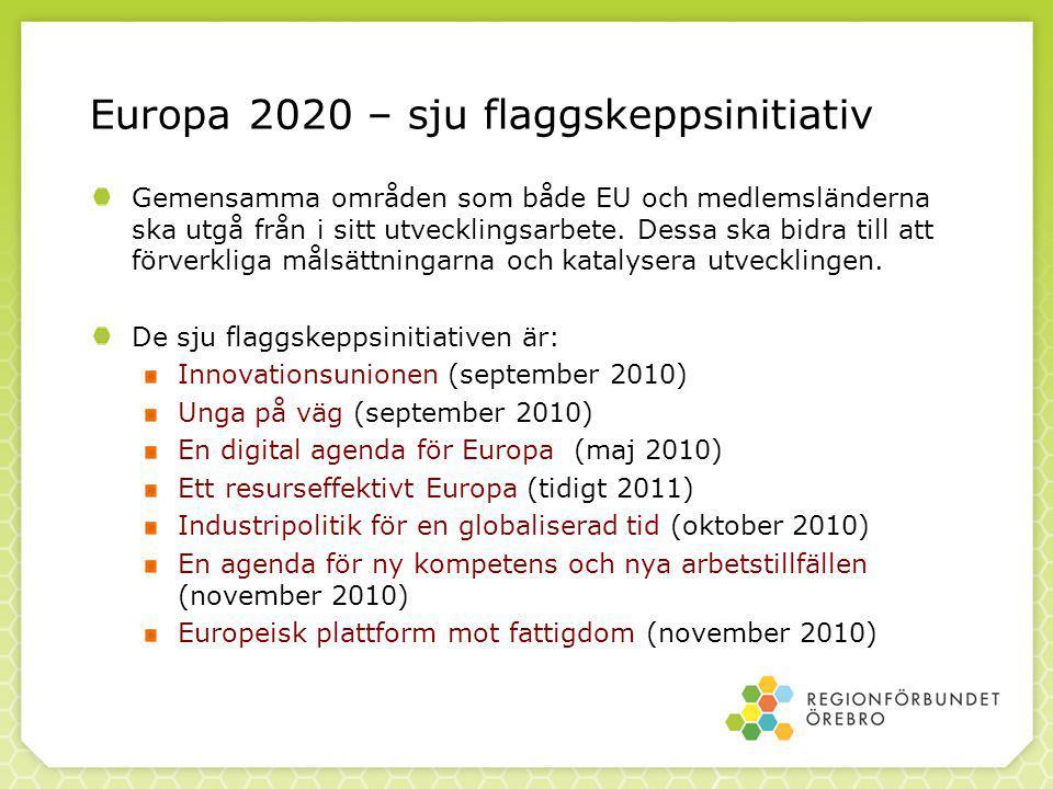 Gemensamma områden som både EU och medlemsländerna ska utgå från i sitt utvecklingsarbete.