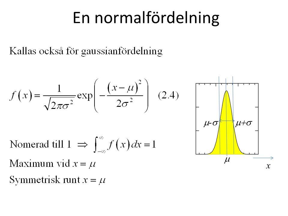 En normalfördelning x  --