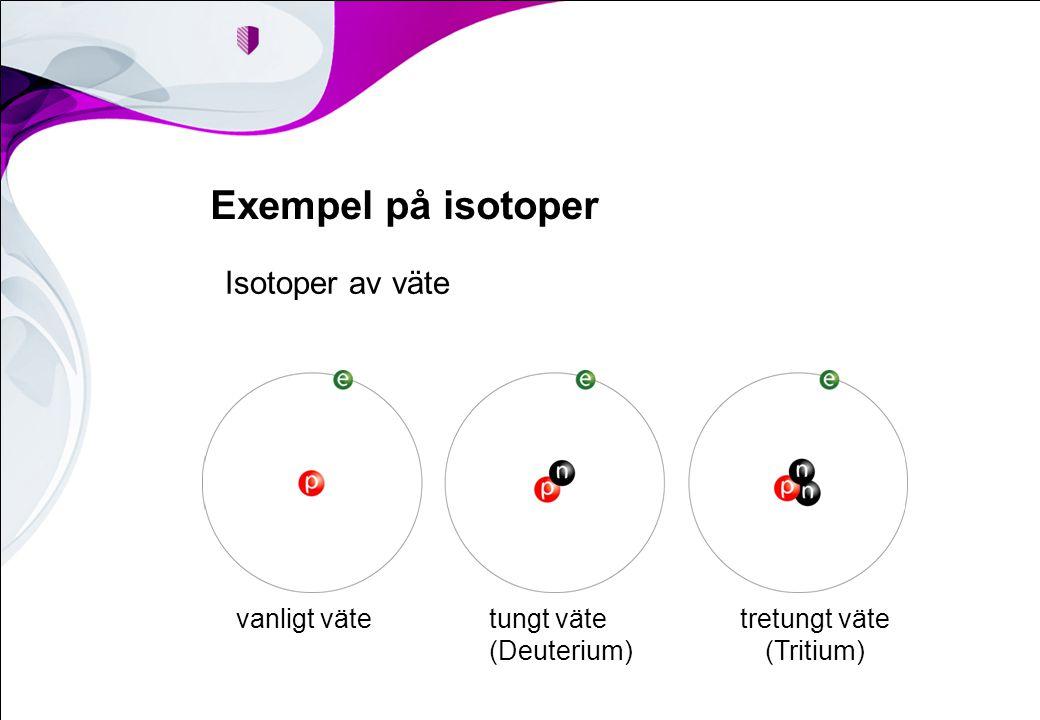 Stabilitet och kärnans storlek Antalet protoner avgör hur stor andel neutroner som behövs för att kärnan skall vara stabil.