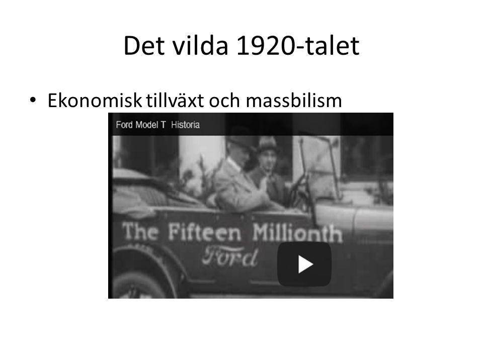 Det vilda 1920-talet Ekonomisk tillväxt och massbilism