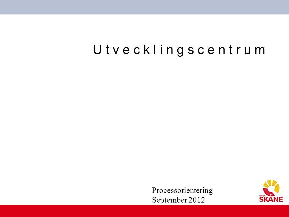 U t v e c k l i n g s c e n t r u m Processorientering September 2012