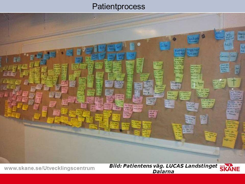 www.skane.se/Utvecklingscentrum Bild: Patientens väg. LUCAS Landstinget Dalarna Patientprocess
