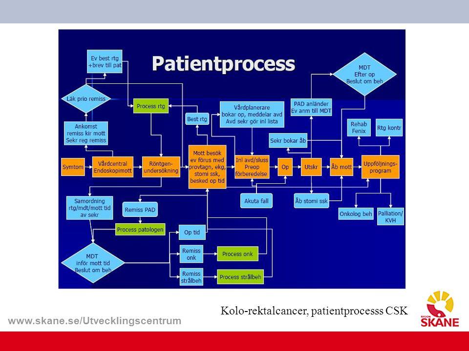 www.skane.se/Utvecklingscentrum Kolo-rektalcancer, patientprocesss CSK