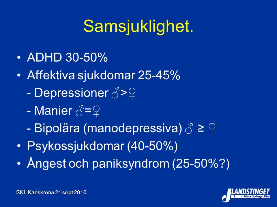 SKL Karlskrona 21 sept 2010 Skador Bensodiazepiner Ångest Sömnsvårigheter Psykos Delirium Muskelkramper Epilepsi Beroende