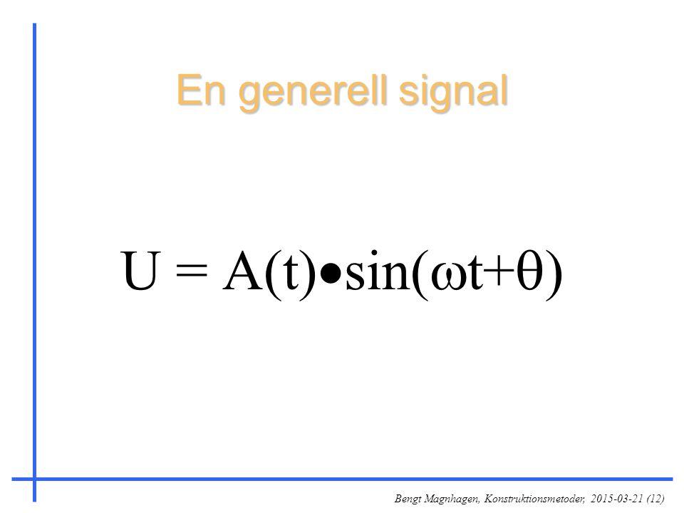 Bengt Magnhagen, Konstruktionsmetoder, 2015-03-21 (12) En generell signal U = A(t)  sin(  t+  )