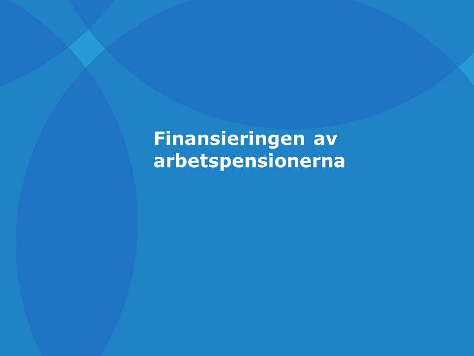 Finansieringen av arbetspensionerna