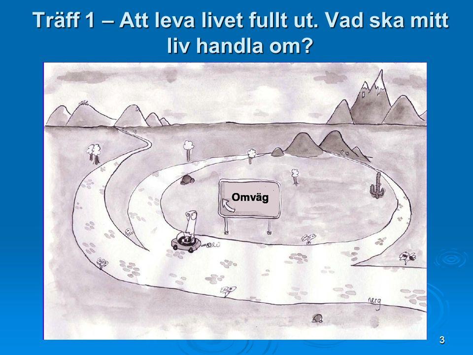 Varför medveten närvaro? CD skiva med sex övningar www.livskompass.se 24