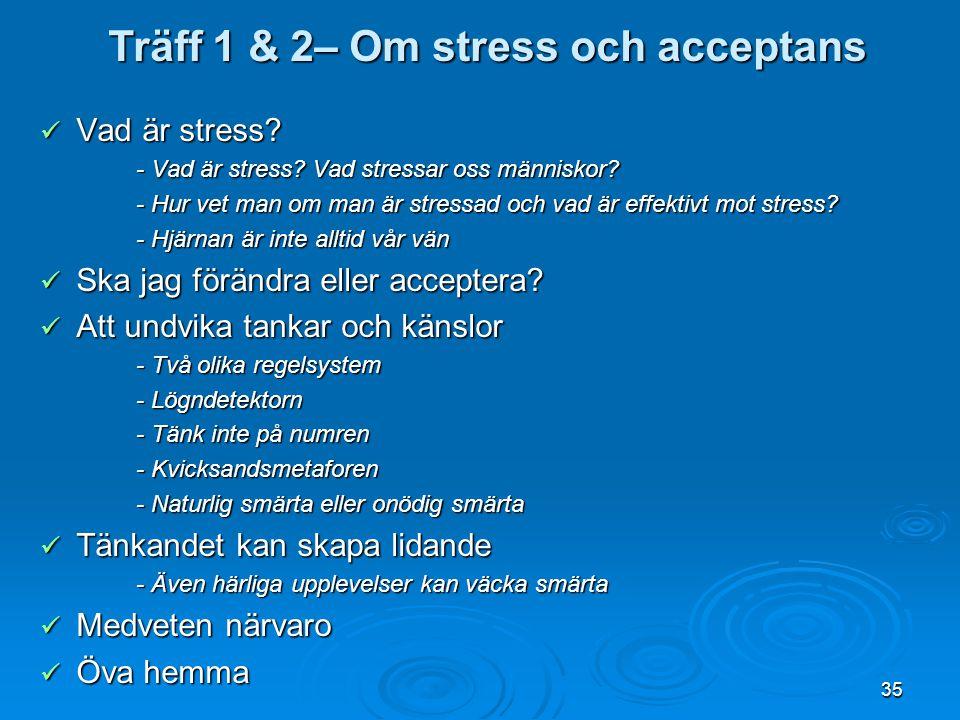 35 Vad är stress? Vad är stress? - Vad är stress? Vad stressar oss människor? - Hur vet man om man är stressad och vad är effektivt mot stress? - Hjär
