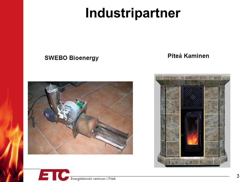 Energitekniskt centrum i Piteå 3 Industripartner SWEBO Bioenergy Piteå Kaminen