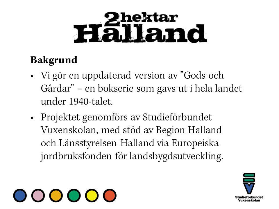 Bakgrund Vi gör en uppdaterad version av Gods och Gårdar – en bokserie som gavs ut i hela landet under 1940-talet.