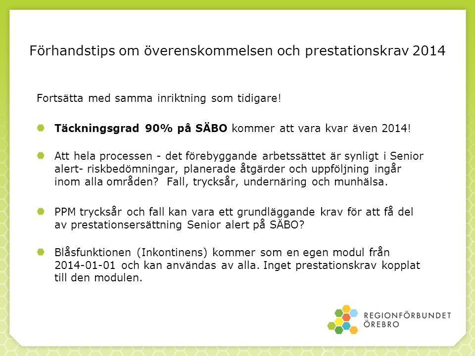 PPM trycksår och fall i kommunerna V 11 och V 37 2014.