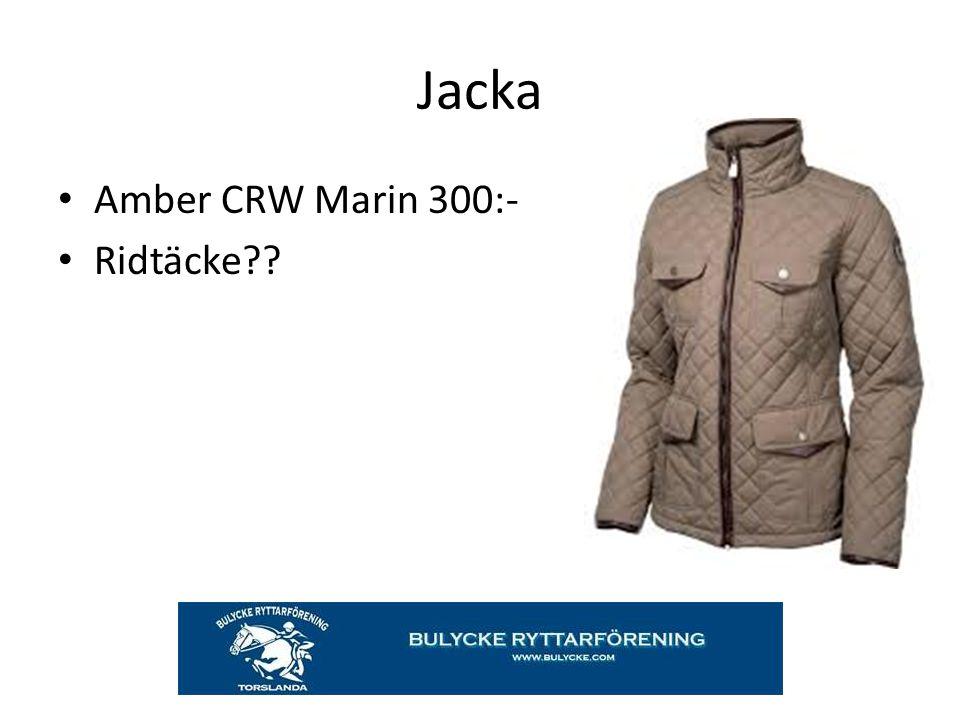 Jacka Amber CRW Marin 300:- Ridtäcke??