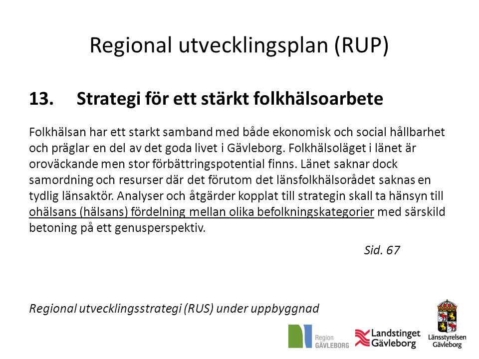 Regional utvecklingsplan (RUP) 13.