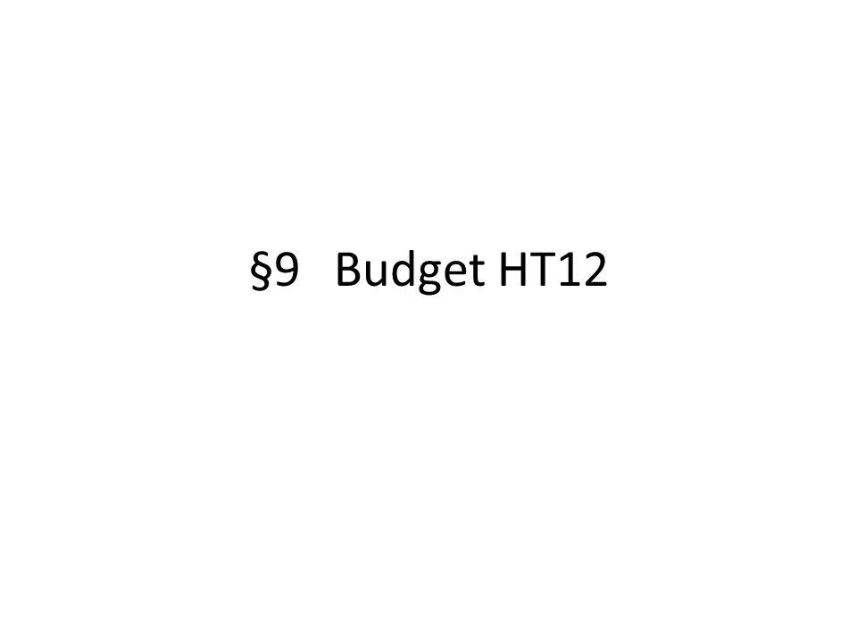 §9Budget HT12