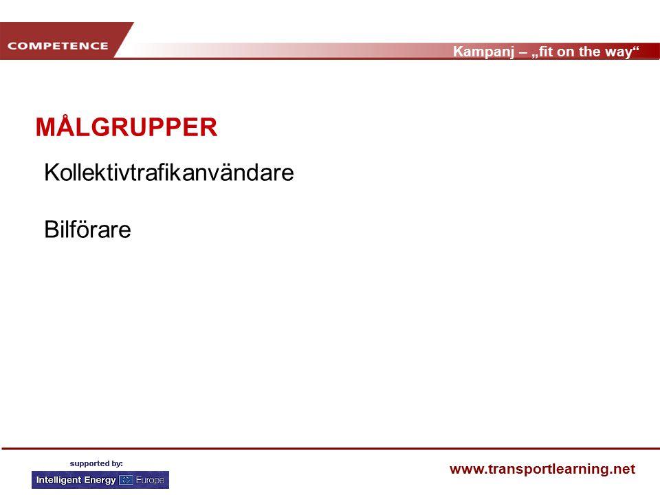 "Kampanj – ""fit on the way www.transportlearning.net Projektet visar VAD."