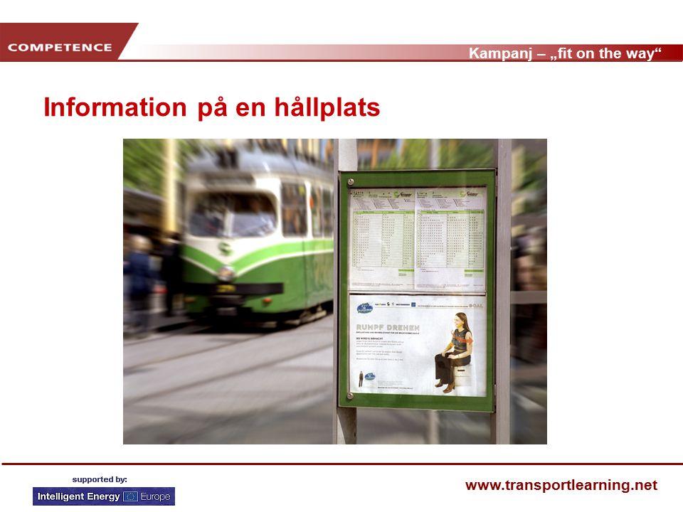 """Kampanj – """"fit on the way www.transportlearning.net Känner du till kampanjen Fit on the way ."""